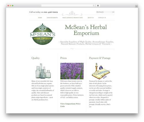 Emporium WordPress website template - mhe-aromatherapy.com