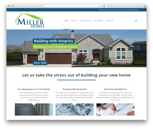 Enfold WordPress theme design - millerhomescleveland.com