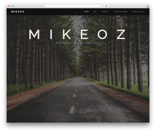 Harmonic free website theme - mikeoz.com