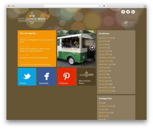 Metro WordPress blog theme - moncamionresto.fr