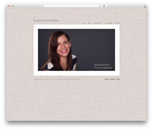 MiniFolio WordPress video template - moderatorin.ch