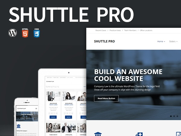 Shuttle Pro business WordPress theme