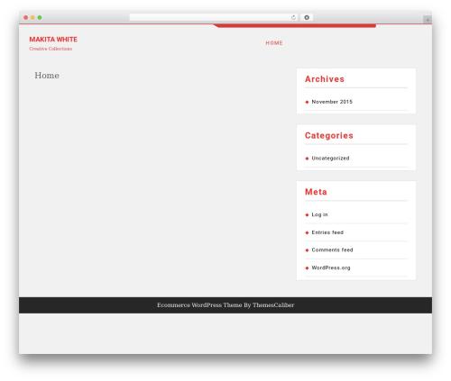 TC E-Commerce Shop WordPress store theme - makitawhite.com