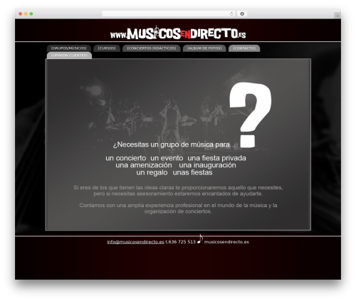 Theme WordPress BLANK Theme - musicosendirecto.es