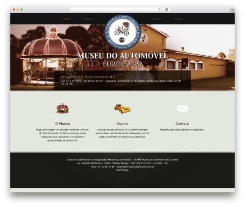 WordPress theme Klasik - museuautomovel.com.br