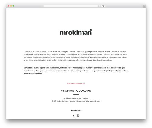 WordPress theme Maav - mroldman.es