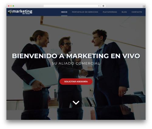 WordPress theme Veda - marketingenvivo.com