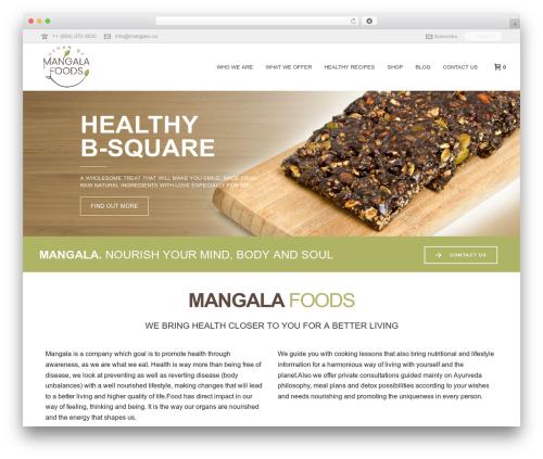 Best WordPress template Jupiter - mangala.ca