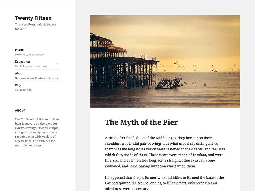 Child WordPress page template