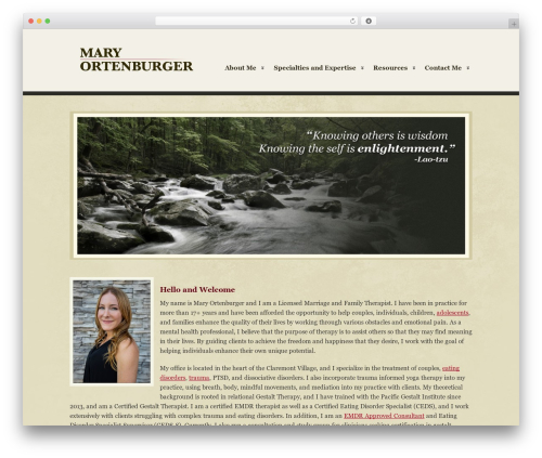 Clearly Modern top WordPress theme - maryortenburger.com