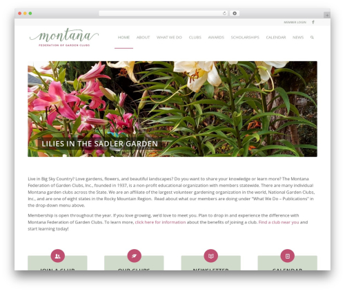 Enfold garden WordPress theme - mtfgc.org