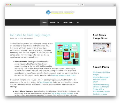 GeneratePress free WP theme - marketingfame.com