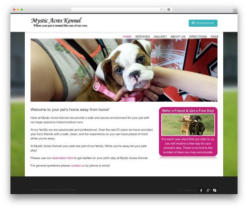 Hotec best WordPress template - mysticacreskennel.com