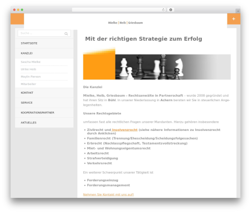 mhg WordPress theme - mhg-jur.de