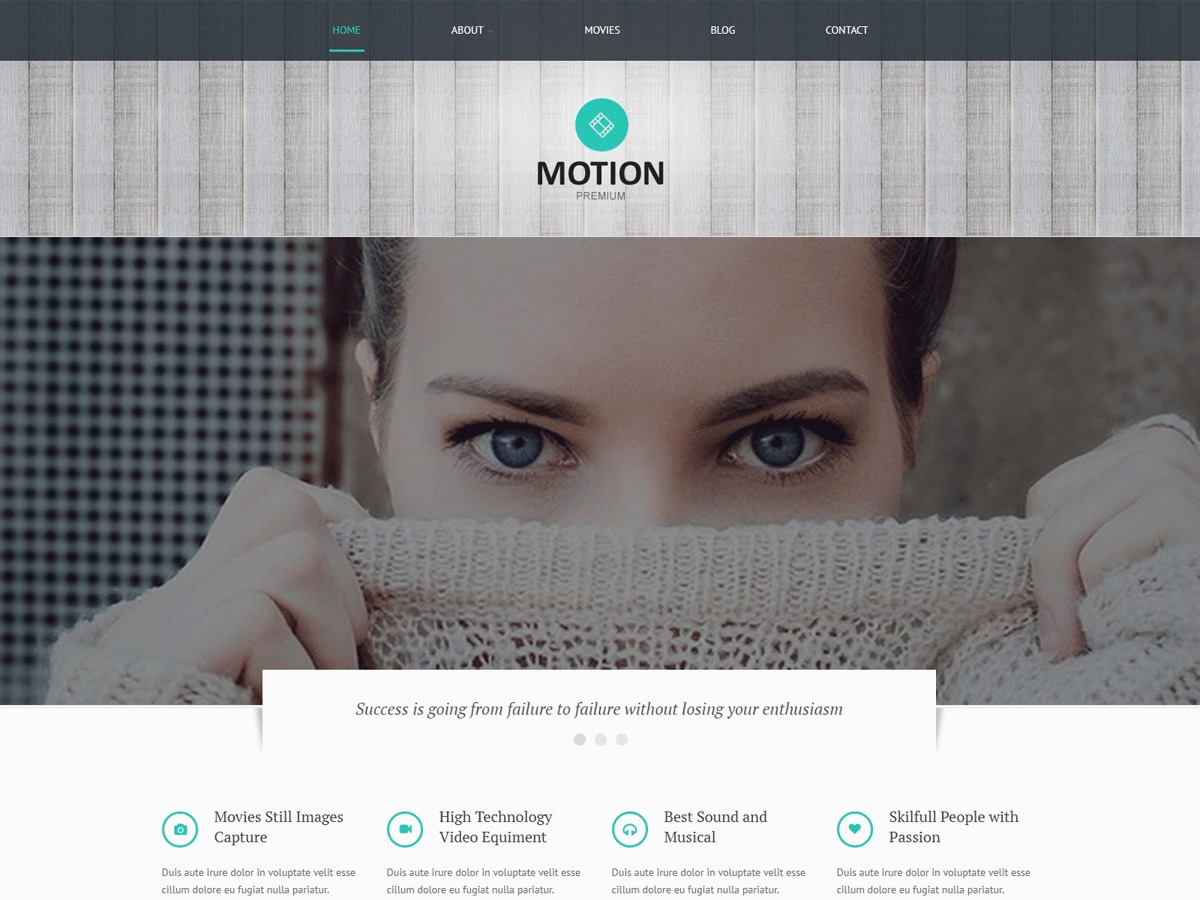 MotionTS WordPress template for business
