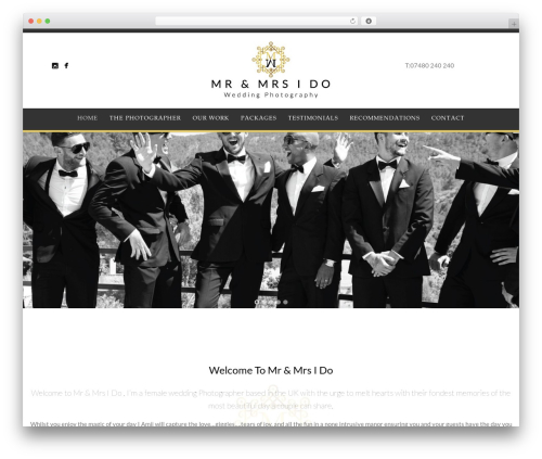 Story business WordPress theme - mrandmrsido.com
