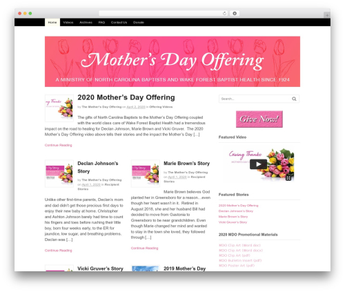 Template WordPress Canvas - mothersdayoffering.org