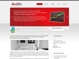 Theme WordPress Biz Template Red