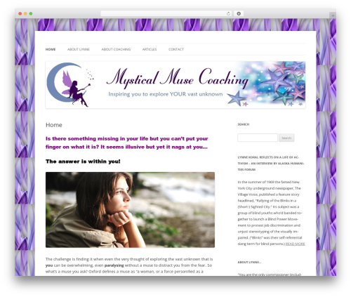 Twenty Twelve WP template - mysticalmusecoaching.com