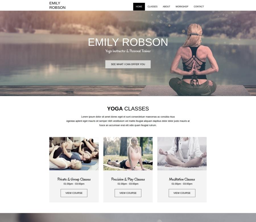 Yoga Instructor WordPress blog theme