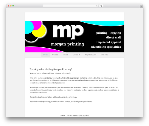 Catch Base Pro WordPress theme - morganprinting.com
