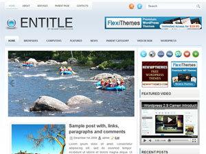 Entitle WordPress blog theme