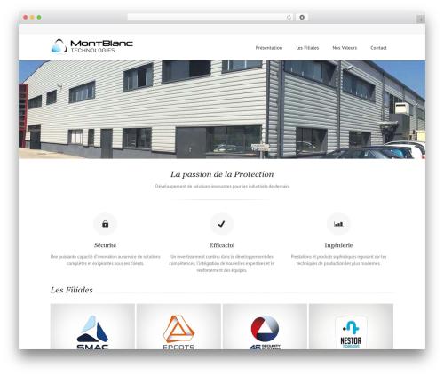 Lounge WordPress theme - montblanc-technologies.com