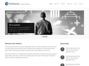 Performs WordPress portfolio template