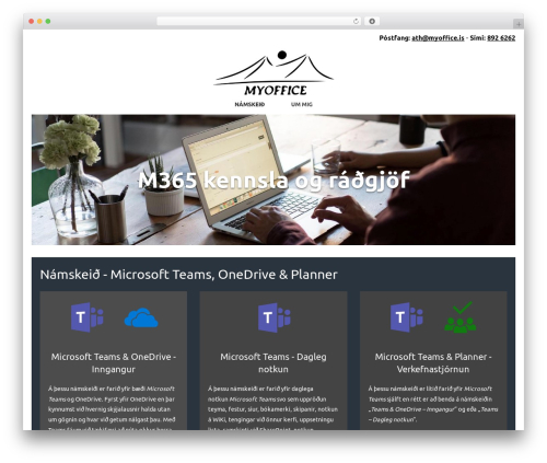 SiteOrigin North free WordPress theme - myoffice.is