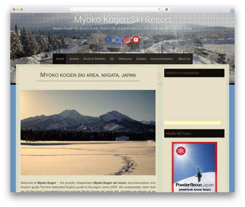 Sixteen free WordPress theme - myokokogen.net