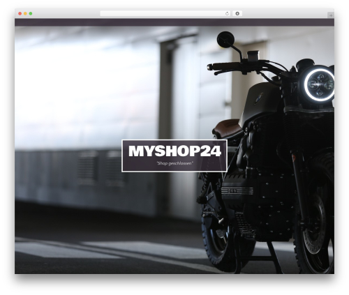 Studio WordPress ecommerce template - myshop24.ch