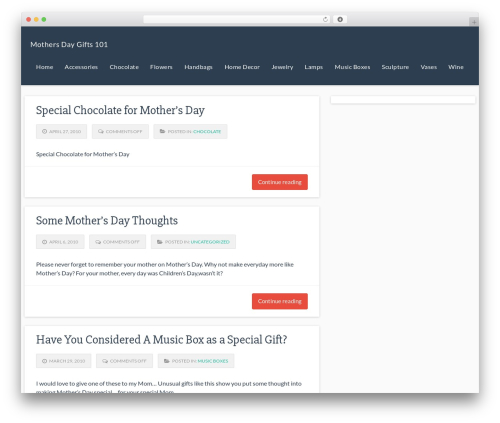 Theme WordPress Responsive Deluxe - mothersdaygifts101.com