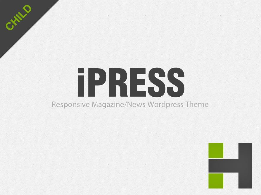 WordPress template iPress Child