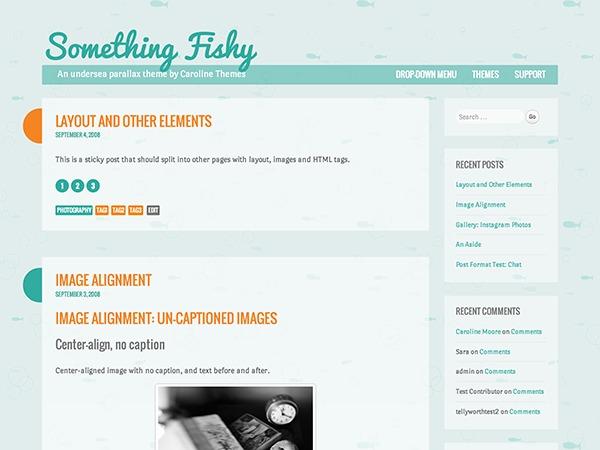 WordPress theme Something Fishy