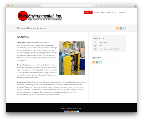 WordPress theme WP-Brilliance - marsenvironmental.com/content