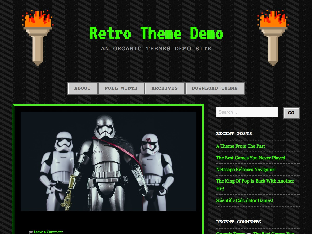 90s Retro best free WordPress theme