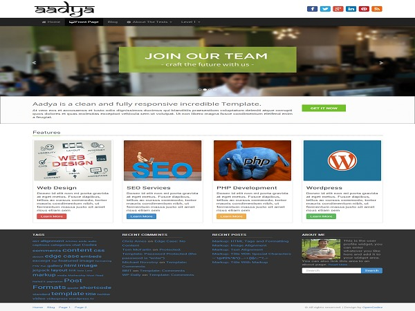 Aadya WordPress free download