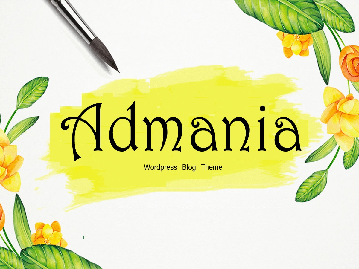 Admania WordPress blog template