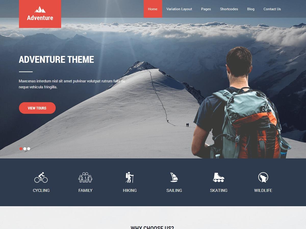Adventure Lite template WordPress free