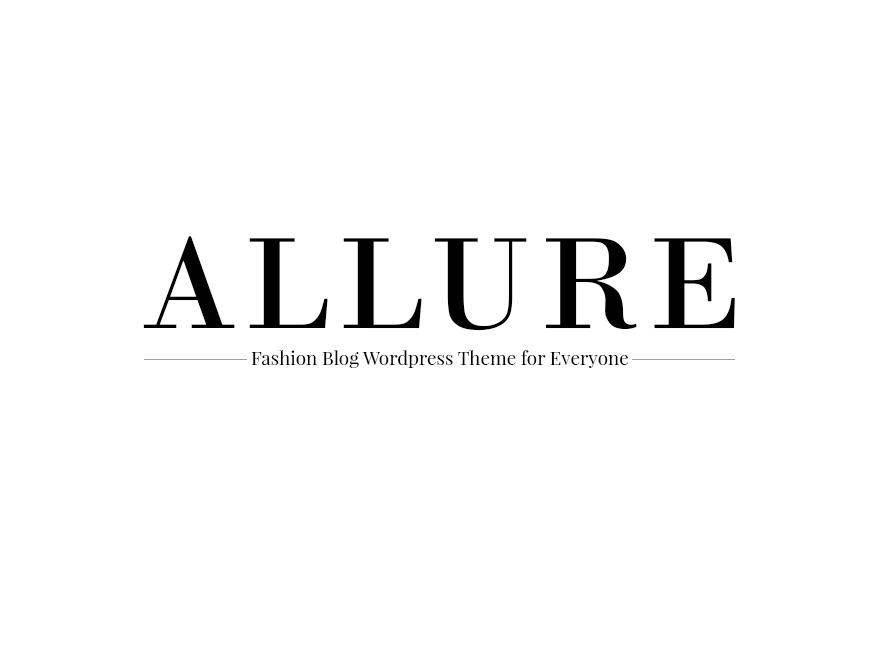 Allure WordPress blog theme