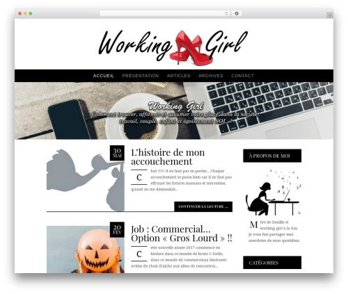 Allure WordPress blog theme - workinggirl.fr
