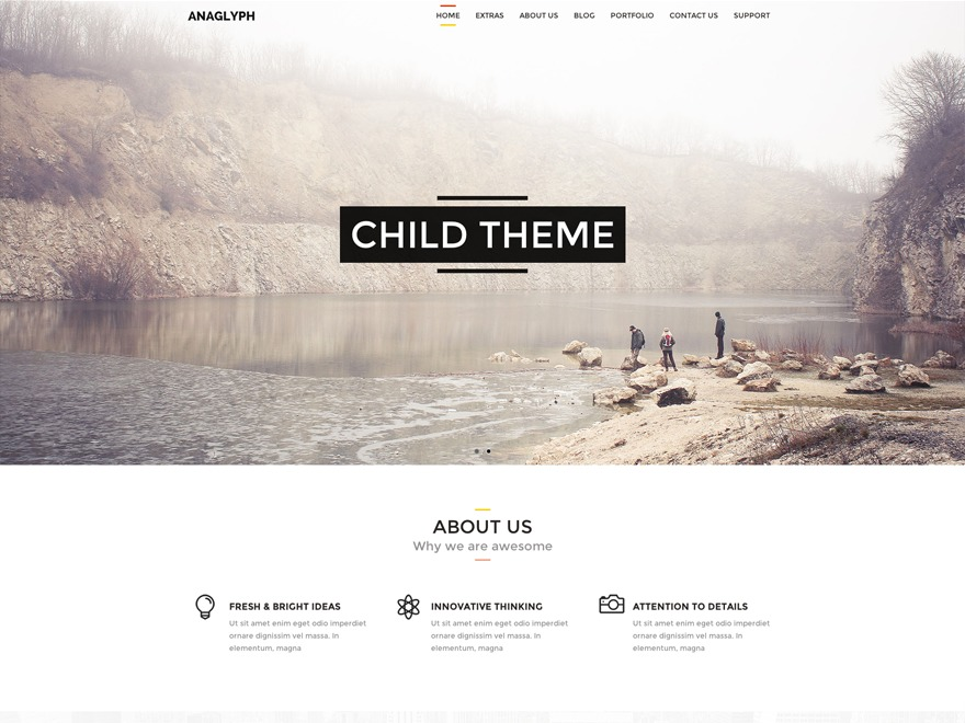 anaglyph child WP template