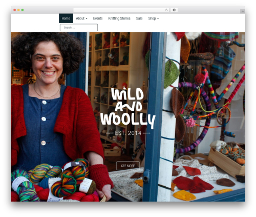 Best WordPress template Arcade Basic - wildandwoollyshop.co.uk