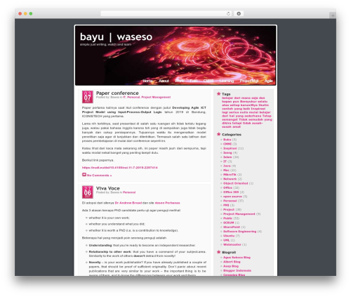 Best WordPress template Mandigo - waseso.net