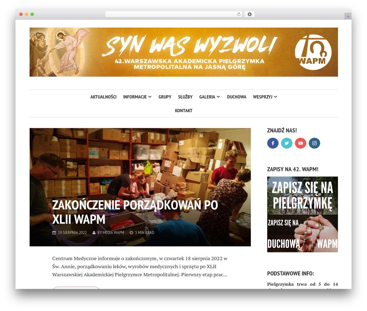 Best WordPress template Shamrock - wapm.waw.pl