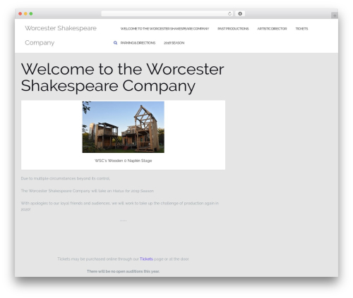 Best WordPress template Shapely - worcestershakespearecompany.org