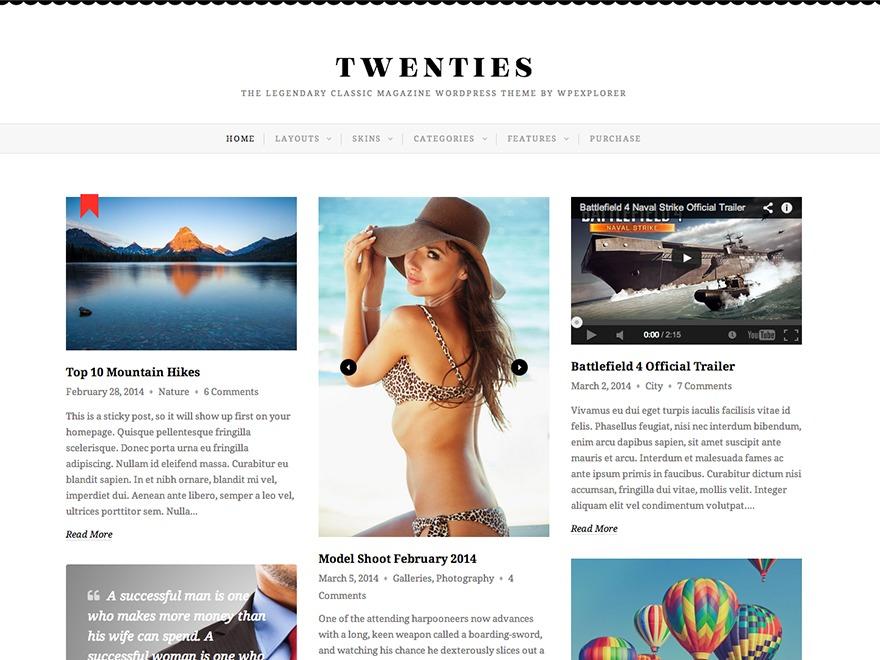 Treehouse best WordPress template by Skinpress.com - nickrie