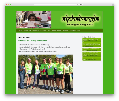 Best WordPress template Whispy - wordpress.alphabangla.de