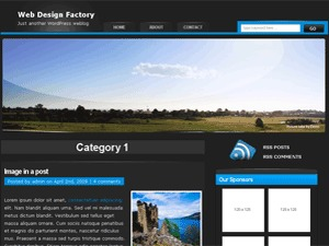 Blue Black WordPress blog theme