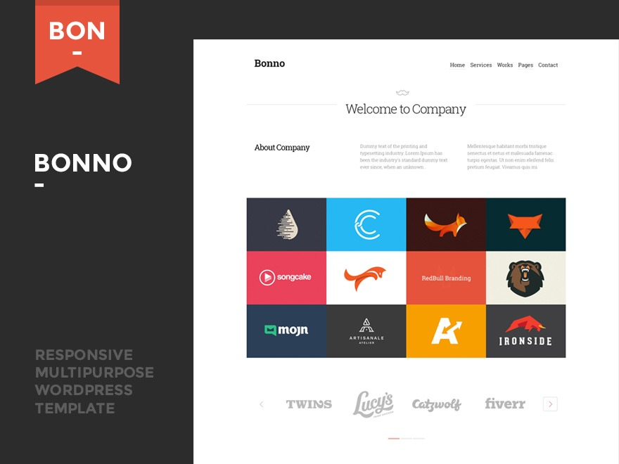 Bonno business WordPress theme